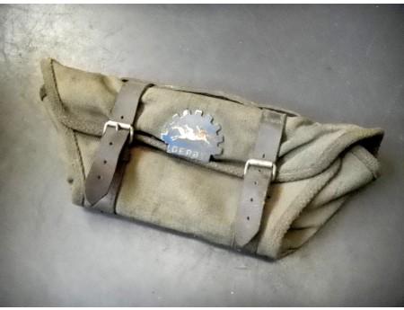 Derby Tasche Leinen Leder Reitsport Leinentasche (C1380)