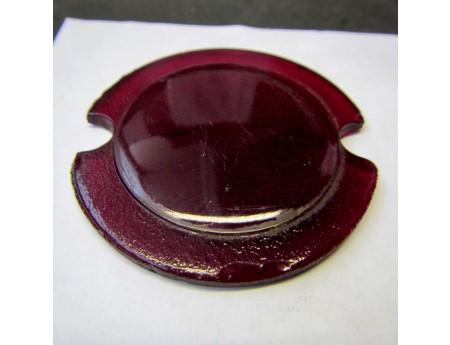 Glasscheibe rot Rückleuchte Glas 44 mm (4150)