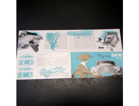 Prospekt DKW 3=6 Faltprospekt Autounion Top (4636)