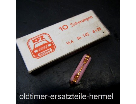 Sicherung Keramik 16 Ampere Wartburg 311 F9 Trabant 10 Stk. (05792)