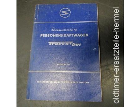 Betriebsanleitung Trabant 601 Handbuch 1965 (6384)