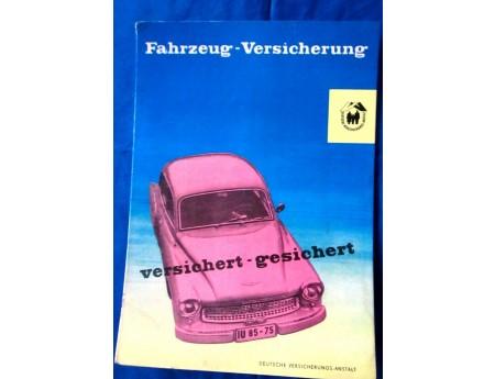 Werbeaufsteller Deutsche Versicherungsanstalt mit Wartburg 311 900 (22165)