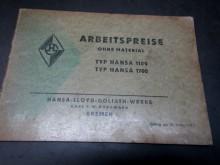 Arbeitspreise 1938 Hansa Lloyd 1100/1700 (C15860)