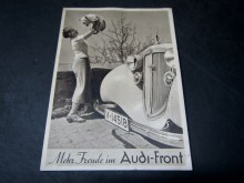 Postkarte Werbung Audi Front Chemnitz Falkeplatz (C15952)