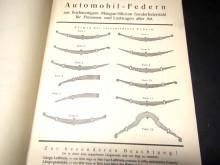 Automobilfedern Preisliste 1932 Katalog Leise, Coburg (C19822)