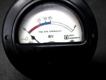 Messgerät Instrument 40 Volt Prozent Gabelstapler CCCP / USSR (C20311)
