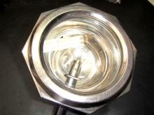 Wagenlampe Scheinwerfer Oldtimer Lampe Nickel (C18360)