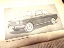 Betriebsanleitung Wartburg 1000 - 353 Handbuch 1.Serie 1966 (C18558)